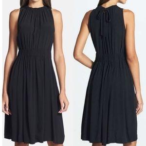 Kate Spade NEW Black Rio Crepe Tie Back Dress sz 6
